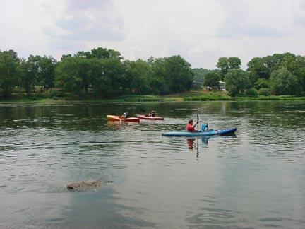 Kayaking the Juniata River.